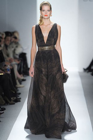Dennis Basso Silk Chiffon Organza with Satin and Embroidery Floor Length Gown ($800, orig. $8,000)
