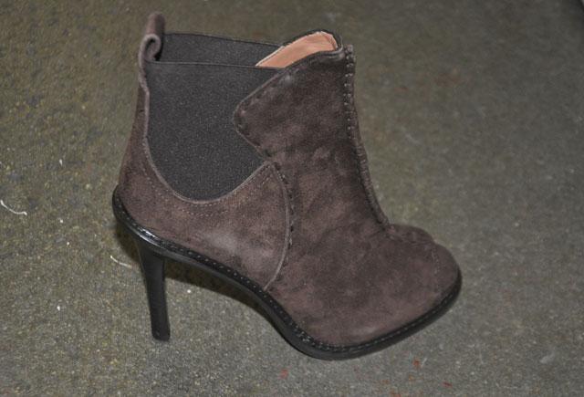 Derek Lam Brown Suede Chelsea Peep Toe Heels ($399, orig. $990)