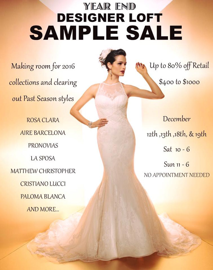 Designer Lof Sample Sale