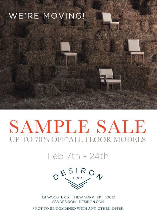 Desiron Sample Sale