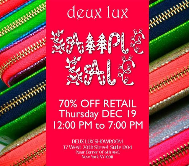 Deux Lux Holiday Sample Sale