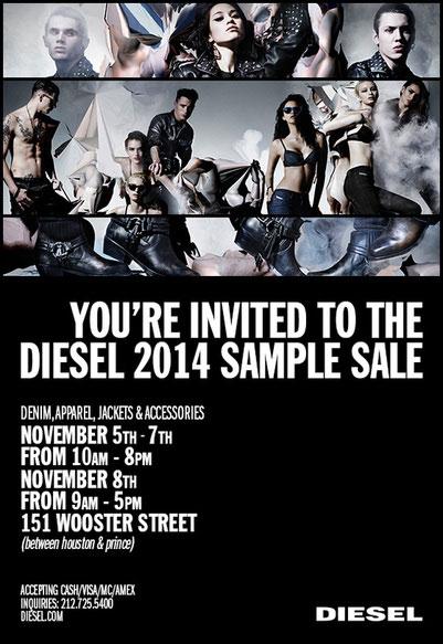 Diesel 2014 Sample Sale