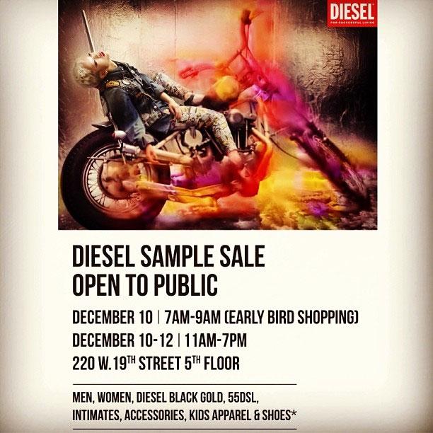 Diesel Sample Sale