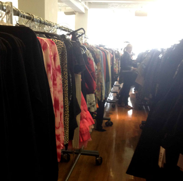 Dolce & Gabbana Sample Sale Clothing Rack