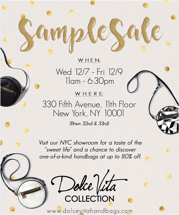 Dolce Vita Collection Holiday Sample Sale