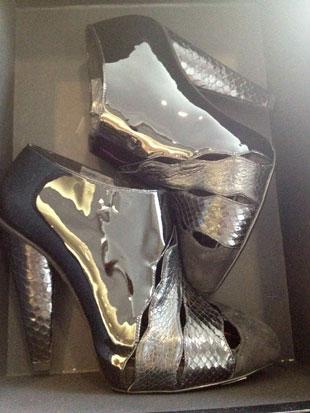 Dolce and Gabbana Black Pleather Scavigiata Z ($119, orig. $1,195)
