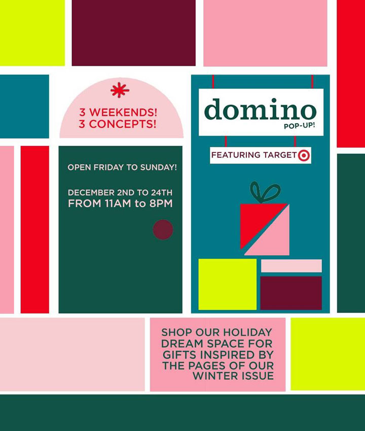 Domino Magazine First Holiday Pop-Up Shop