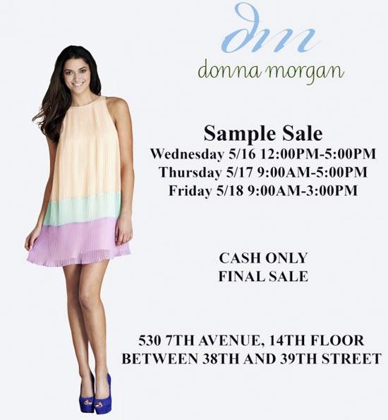 Donna Morgan Sample Sale