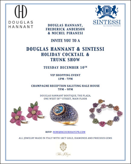 Douglas Hannant & Sintessi Holiday Cocktail and Trunk Show