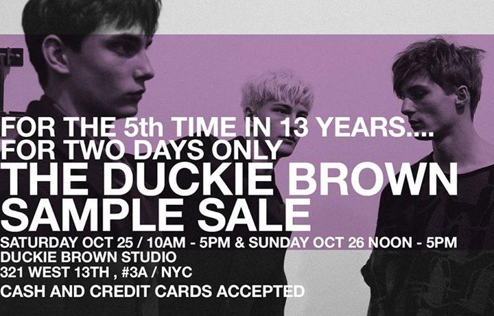 Duckie Brown Sample Sale