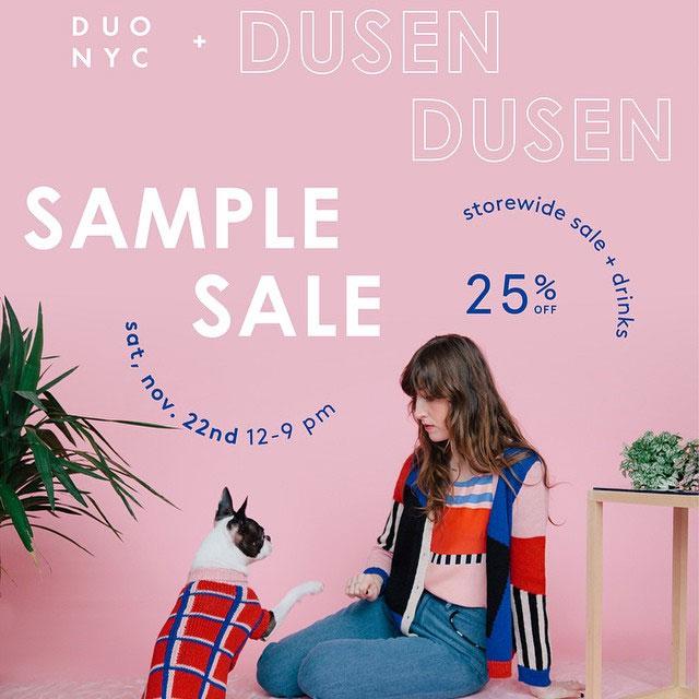 Dusen Dusen & duo nyc Sample Sale