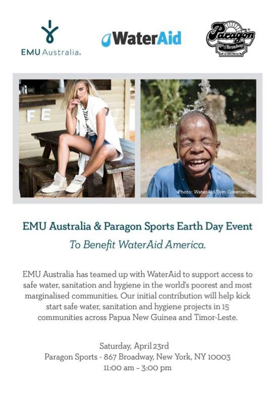 EMU Australia & Paragon Sports Earth Day Event
