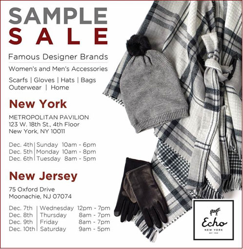 Echo Sample Sale