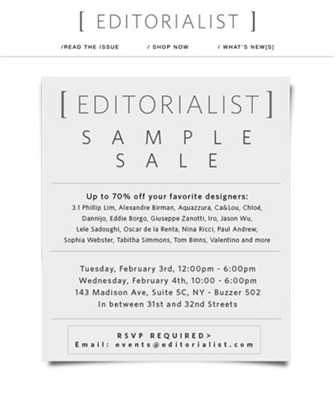 Editorialist Sample Sale