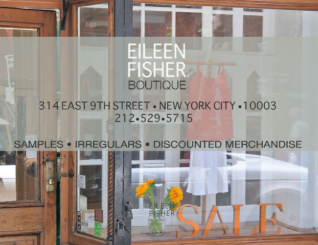 Eileen Fisher Summer Sample Sale