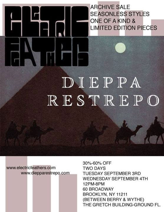 Electric Feathers & Dieppa Restrepo Sample Sale