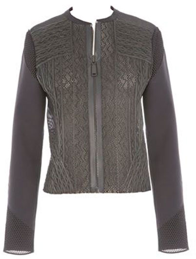 CLEARLY JACKET: Oily washed soft lamb leather in black from Transition 15 collection Retail: $998, Now $279