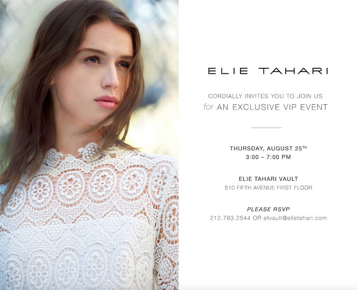 Elie Tahari Exclusive VIP Event