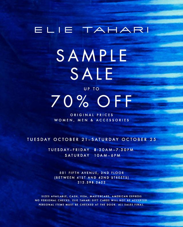 Elie Tahari Fall 2014 Sample Sale