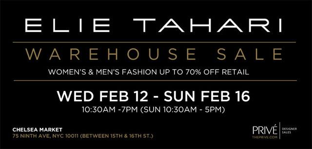 Elie Tahari Warehouse Sale