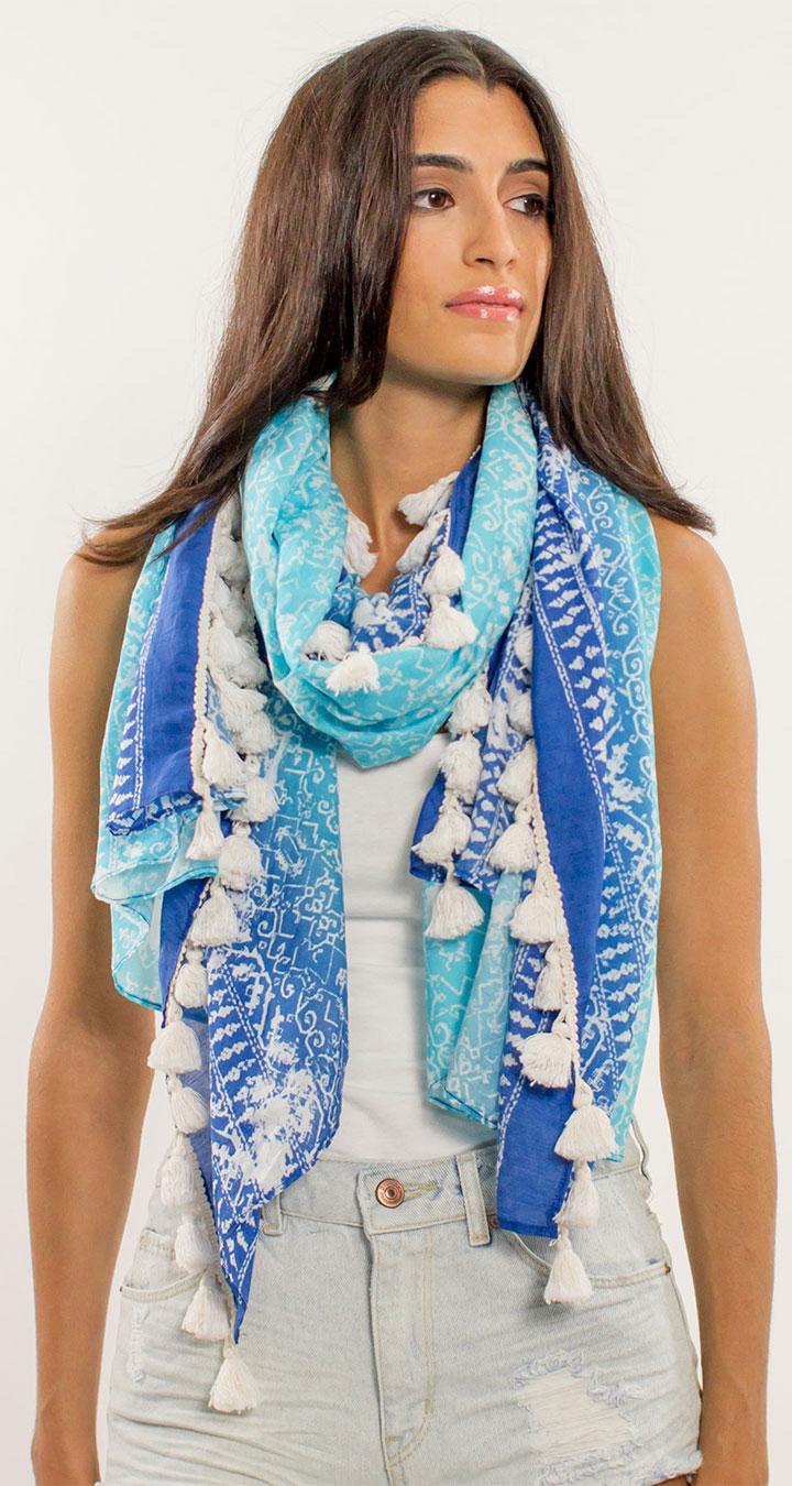 RAIN Tile print pareo/scarf/sarong: retail $100 here $30