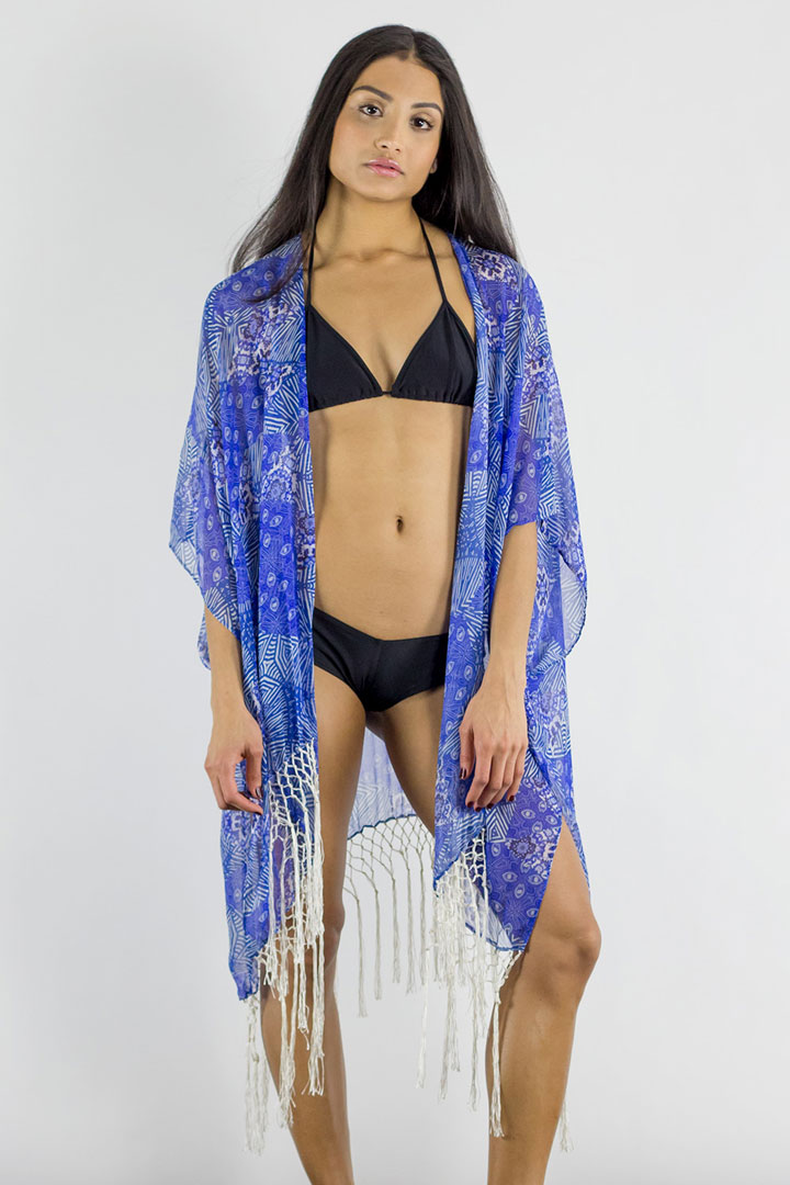 SHAY Batik print kimono: retail $135, here $50