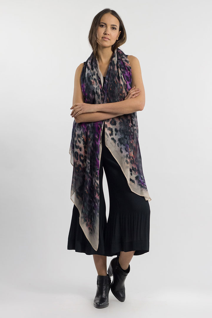 Elizabeth Gillett Teagan leopard print scarf: $50 (retail $100)