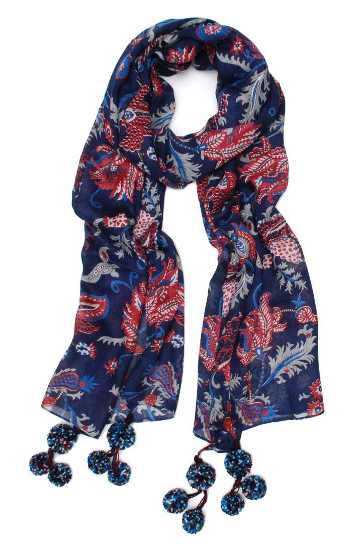 Elizabeth Gillett Vanessa scarf with pompom: $40 (retail $75)