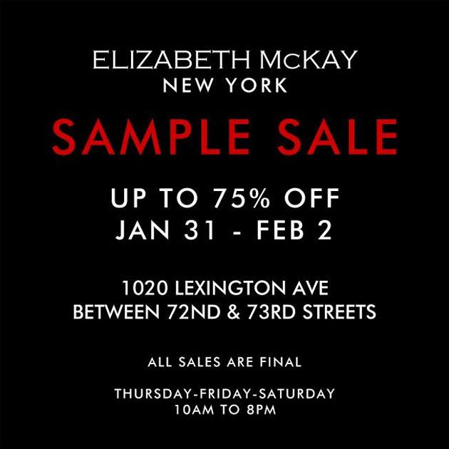 Elizabeth McKay Sample Sale