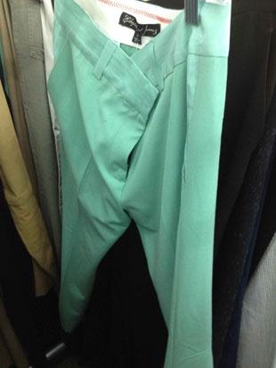Elizabeth and James Mint Green Dress Pants ($159, orig. $285)