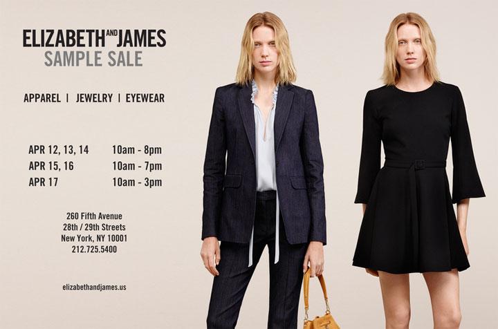 Elizabeth and James Sample Sale