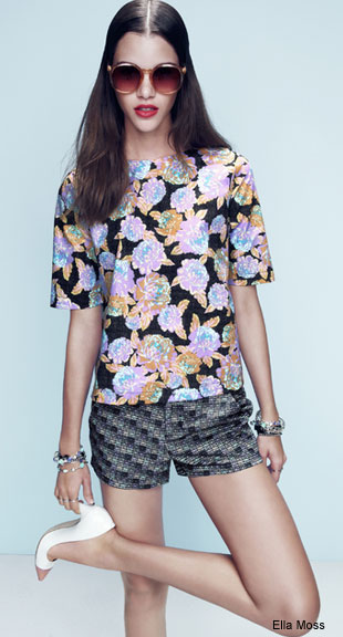 Ella Moss Floral Top and Shorts