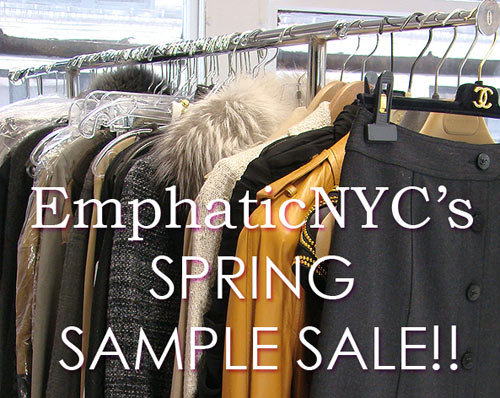 EmphaticNYC Designer Sample Sale