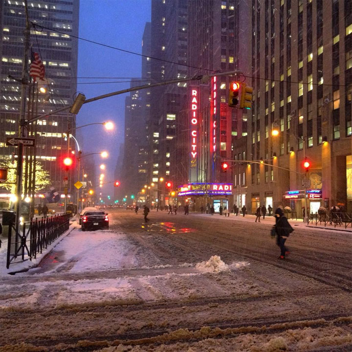Empty 6th Avenue @wisnefski #Blizzardof2015