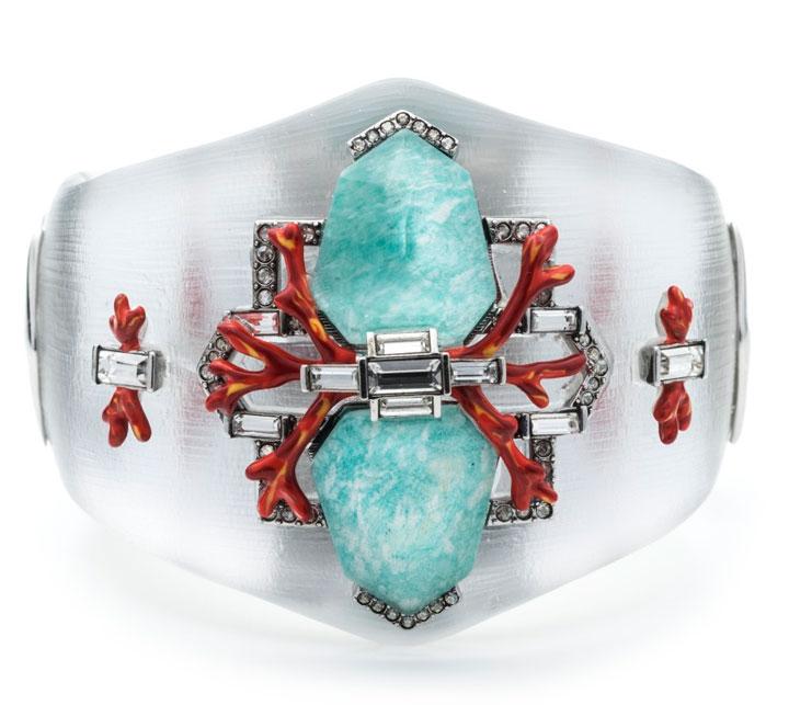 Mirrored Amazonite Doublets & Enamel Accented Bedarra Hinge. Retail: $445. Sample Sale Price: $150