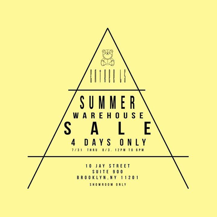 Entree Lifestyle Summer '14 Warehouse Sale