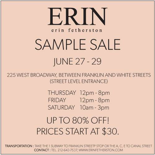 Erin Fetherston Sample Sale