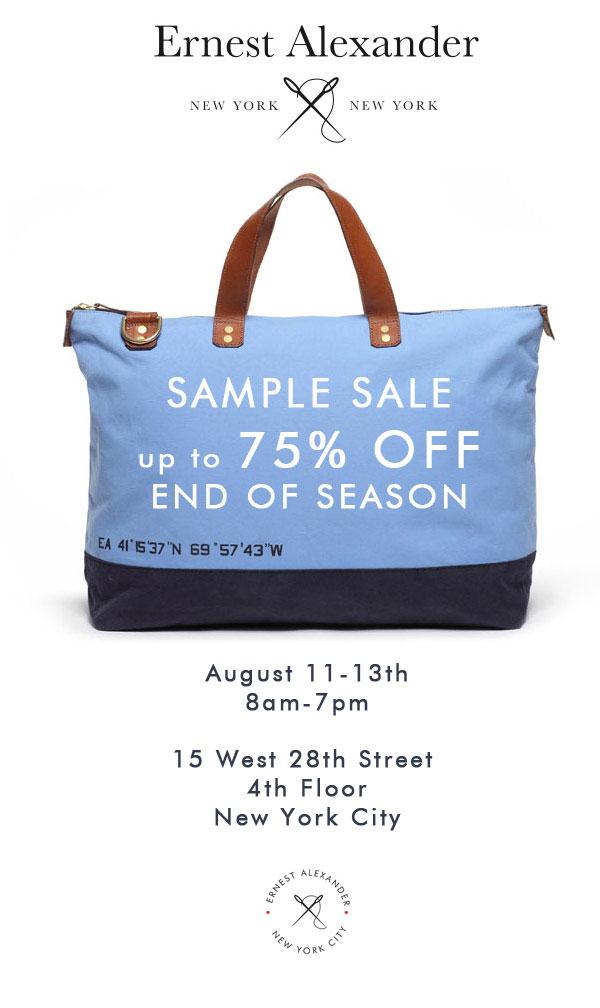 Ernest Alexander End of Season Sample Sale