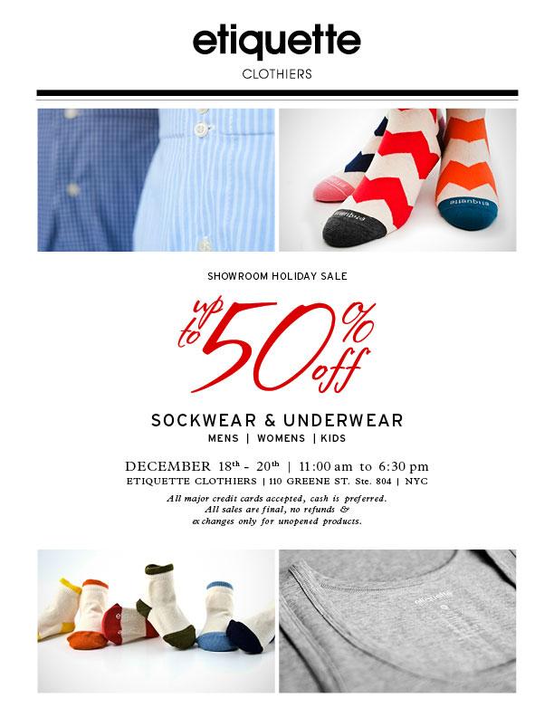 Etiquette Clothiers Holiday Sale