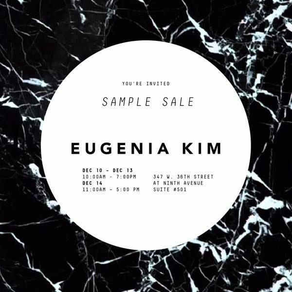 Eugenia Kim Fall 2013 Sample Sale
