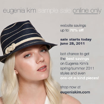 Up to 70% off Eugenia Kim Accessories: Starts 6/28