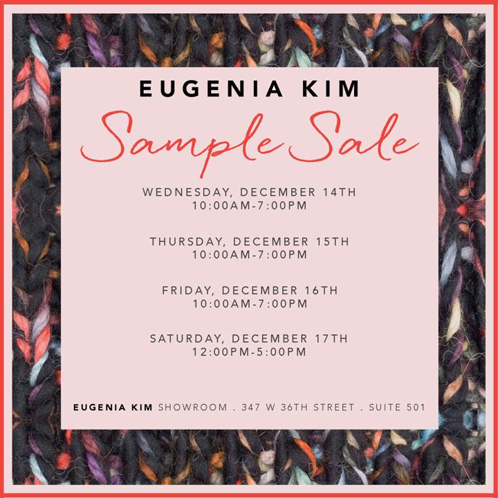 Eugenia Kim Sample Sale