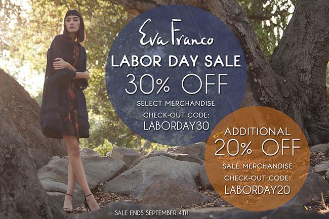 Eva Franco Labor Day Online Sale