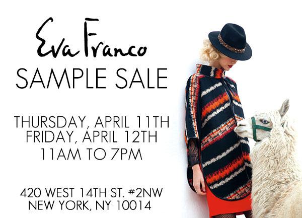 Eva Franco NYC Sample Sale