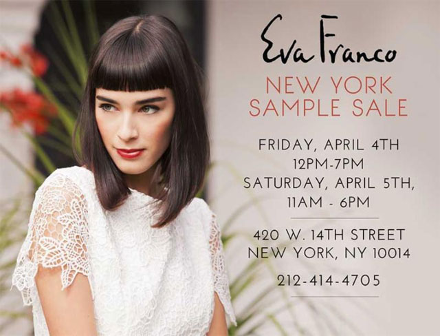 Eva Franco NYC Sample Sale
