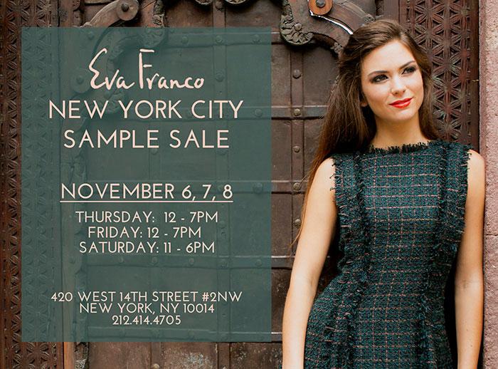 Eva Franco New York Sample Sale
