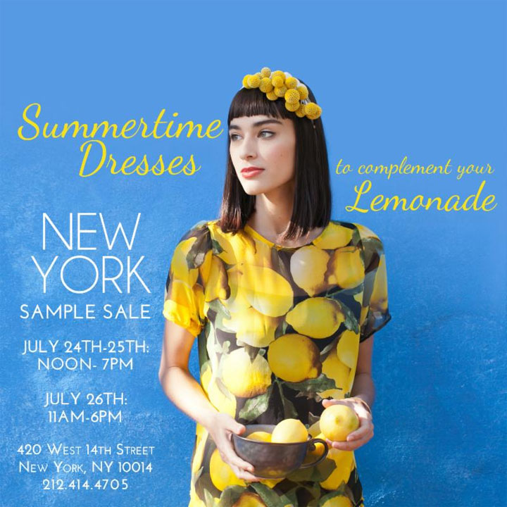 Eva Franco New York Sample Sale