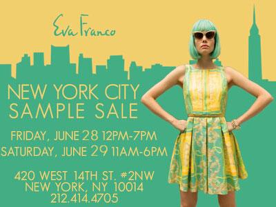 Eva Franco Sample Sale