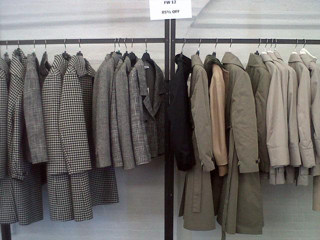 85% off FW 12 Coats at Jil Sander Sample Sale