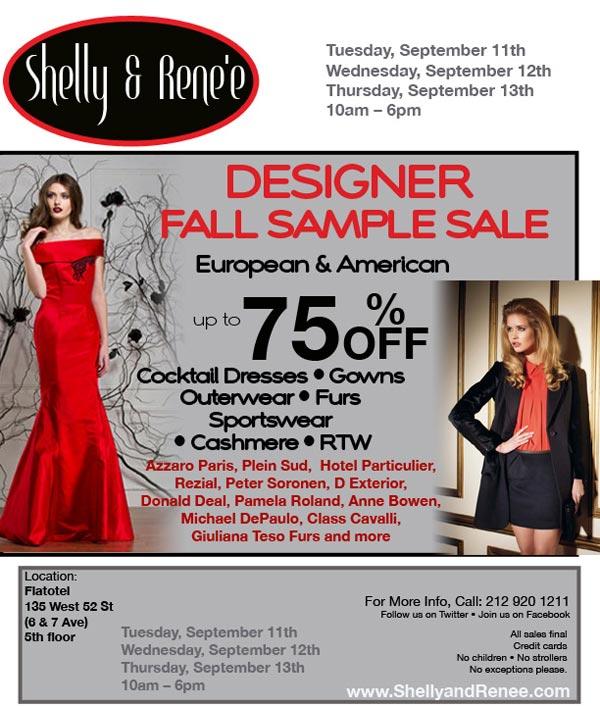 Fall Designer Sample Sale